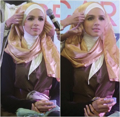 Tips Mudah Pakai Jilbab dengan Scarf Satin