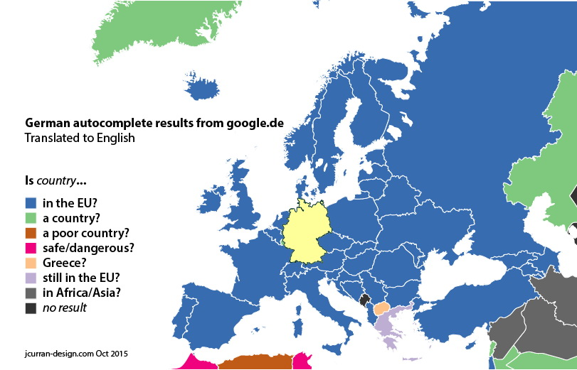 "Google.de autocomplete for ""Is <country>...?"""