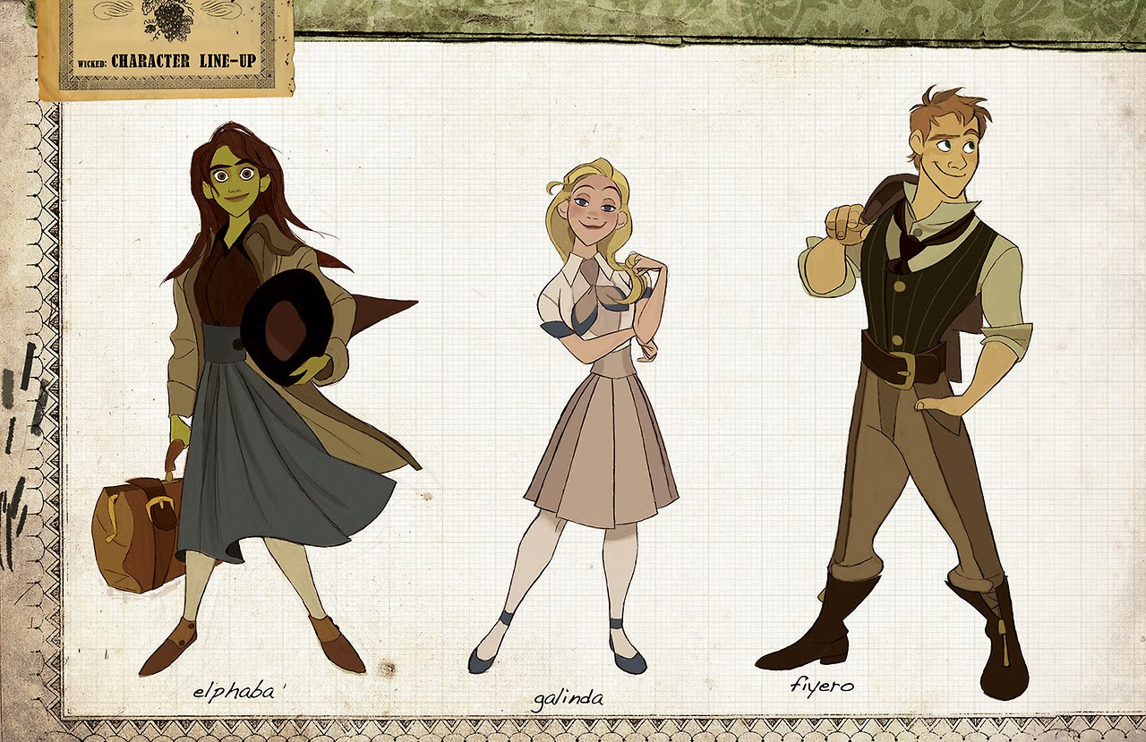 Disney Character Design Artists : Once upon a old animation development art for
