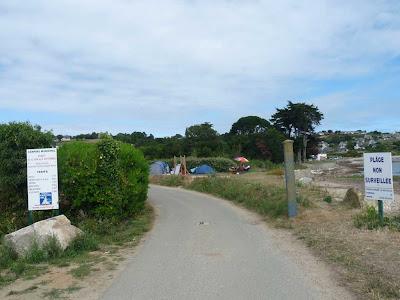 ブルターニュ GR34 ポール・ドン パンポル キャンプ場