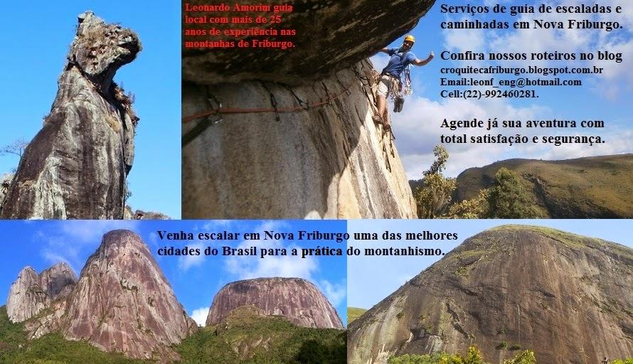 Serviços de guia de escaladas e caminhadas em NF.