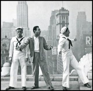 Stanley Donen (1924-) con Gene Kelly y Frank Sinatra
