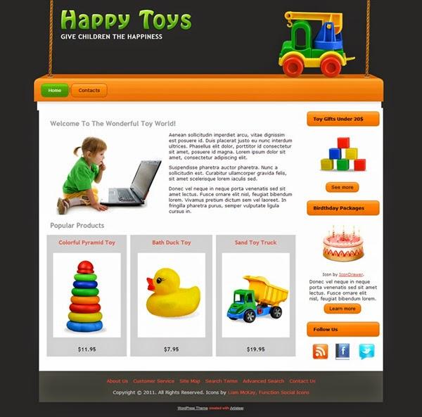 Happy Toys - Free Wordpress Theme