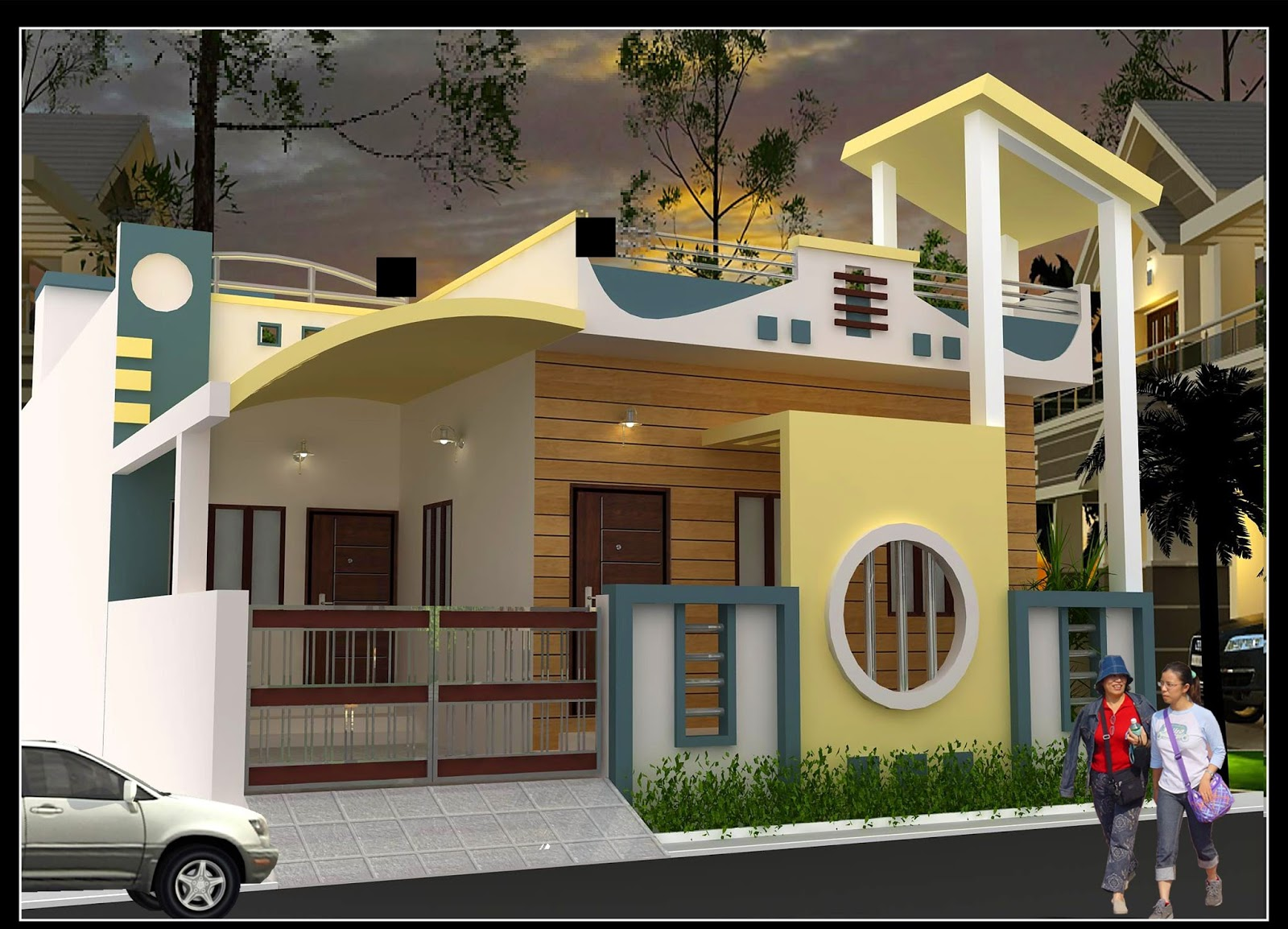 Front Elevation Of G 2 Building : Modern front elevation of residential building joy