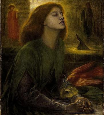 Beata Beatrix by Dante Gabriel Rossetti. Model: Elizabeth Siddal