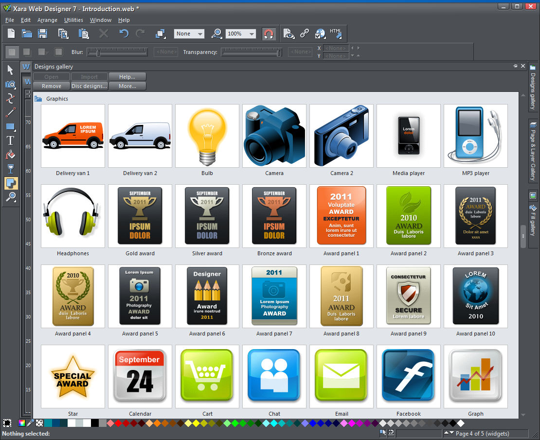 Video Thumbnail Xara Web Designer