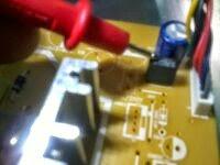 testando capacitor da placa