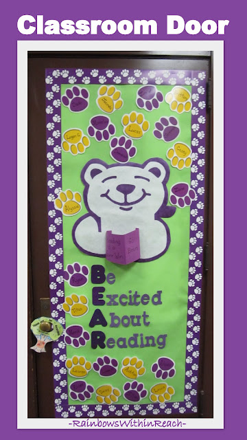 Classroom Door Decoration with Bear Theme: Be Excited About Reading