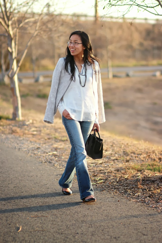 classic bootcut jeans denim outfit trend