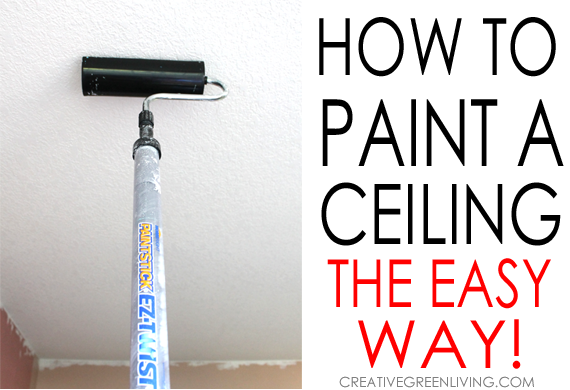 How to paint a ceiling the easy way homeright for How to paint a ceiling