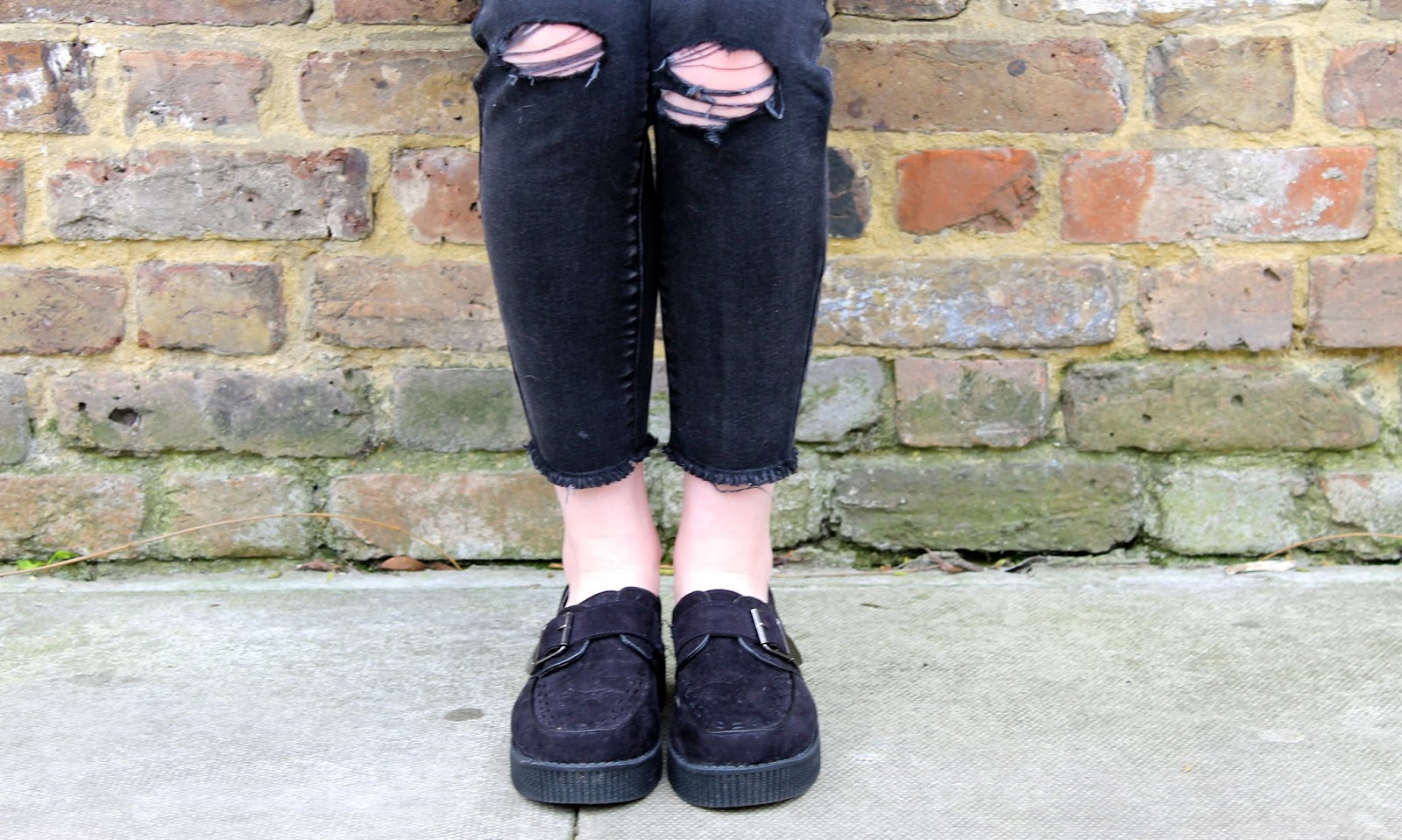 bec boop ripped jeans creepers