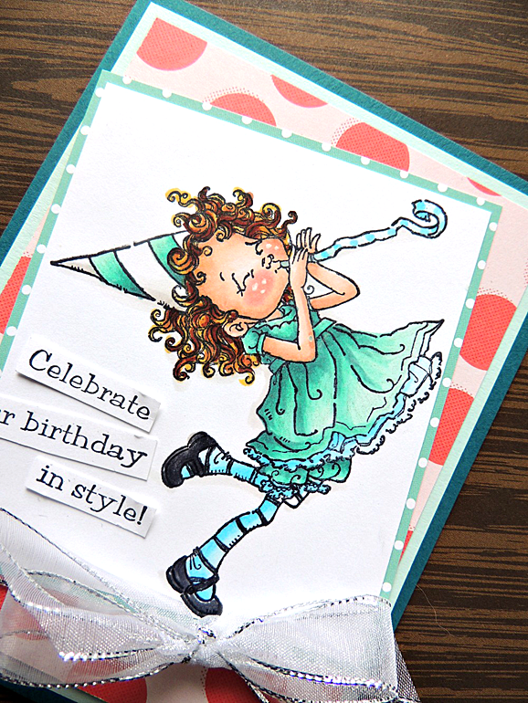 Penny Black Birthday Joy Card Copic Markers