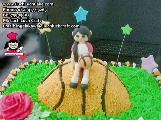 Kue tart ulang tahun basket