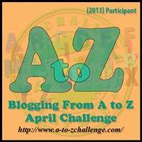 A to Z Challenge Participant 2013