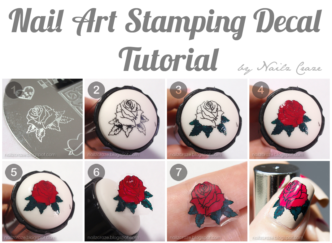 Nailz Craze: Nail Art Stamping Decal Tutorial