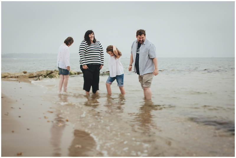 Family photo session on the beach in Dorset