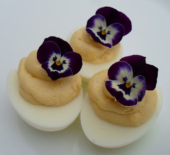 pretty deviled eggs for mother's day brunch