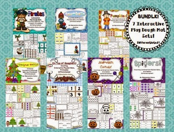 http://www.teacherspayteachers.com/Product/Bundle-Interactive-Play-Dough-Mats-Hands-On-Math-Centers-Games-Printables-1316496