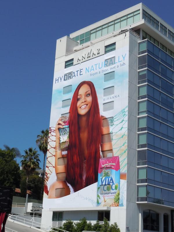 Rihanna Vita Coco billboard Sunset Strip
