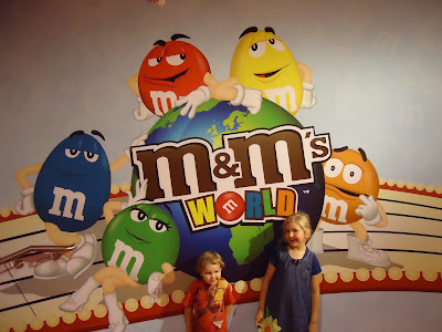 M&M's World in Leicester Square London where Top Ender and Big Boy went with us