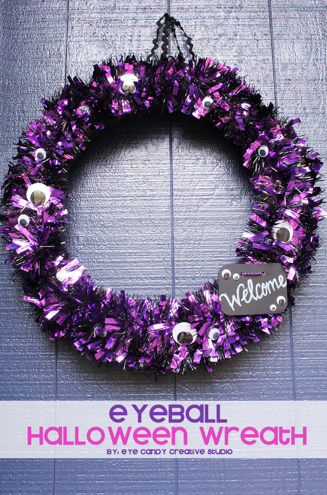 eyeball halloween wreath, how to make a halloween wreath, home diy