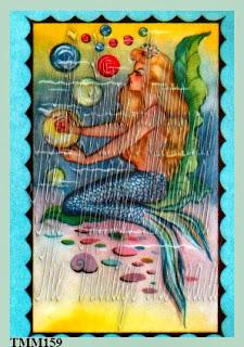 art deco mermaid fabric blocks by vintagemermaidsfabricblocks.com