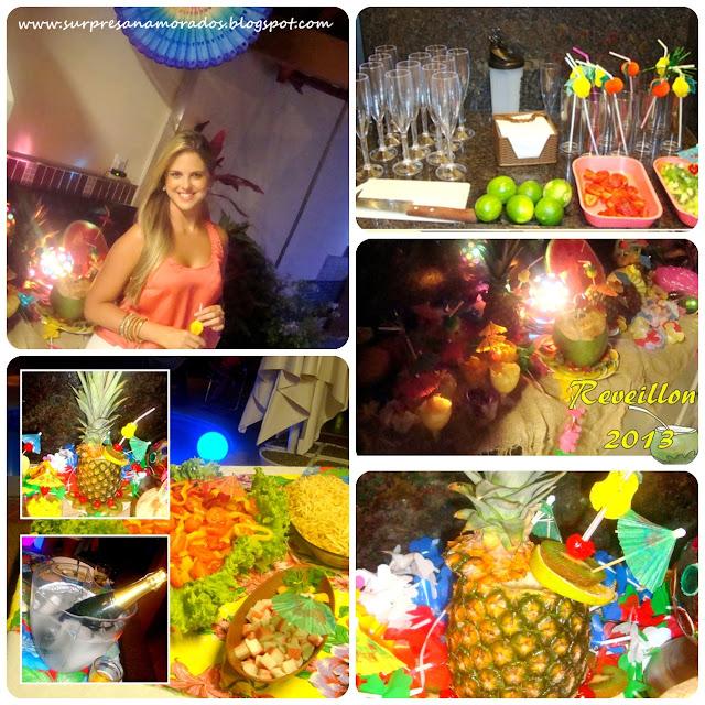 Festa Tropical para o Ano Novo