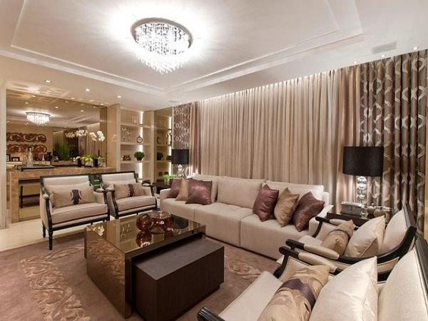 Sala De Estar Com Um Sofa ~ Outra sala que utilizou de estofados clássicos e mesa de centro