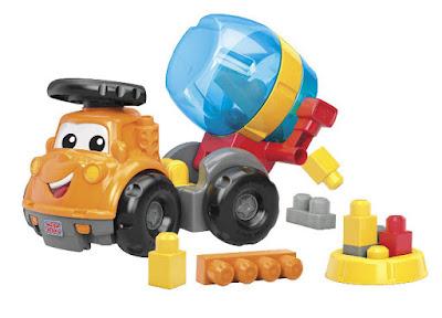 TOYS : JUGUETES - MEGA BLOKS First Builders  Mike Camión Hormigonera   Mike The Mixer  Producto Oficial | Mattel CND67 | Piezas: 11 | Edad: 1-5 años  Comprar en Amazon España