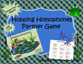 http://www.teacherspayteachers.com/Product/Hopping-Homophones-Partner-Game-Common-Core-Aligned-1114843