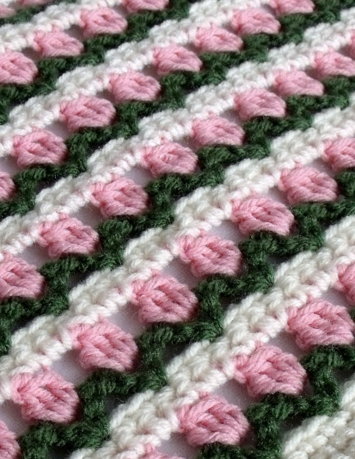 The Pursuit of Craft: Iron Craft #3 - Rows of Blossoms Scarf