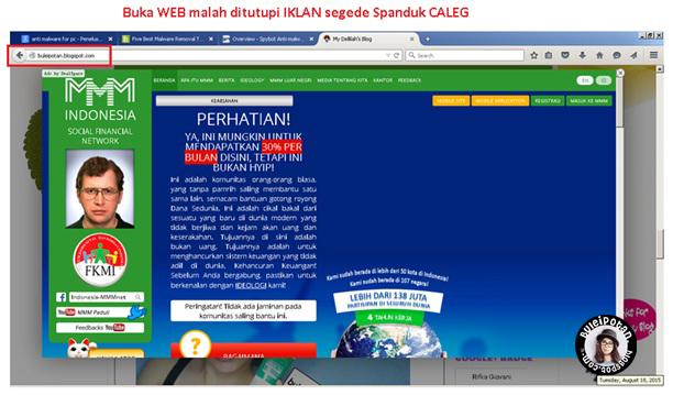 Iklan menggangu browser