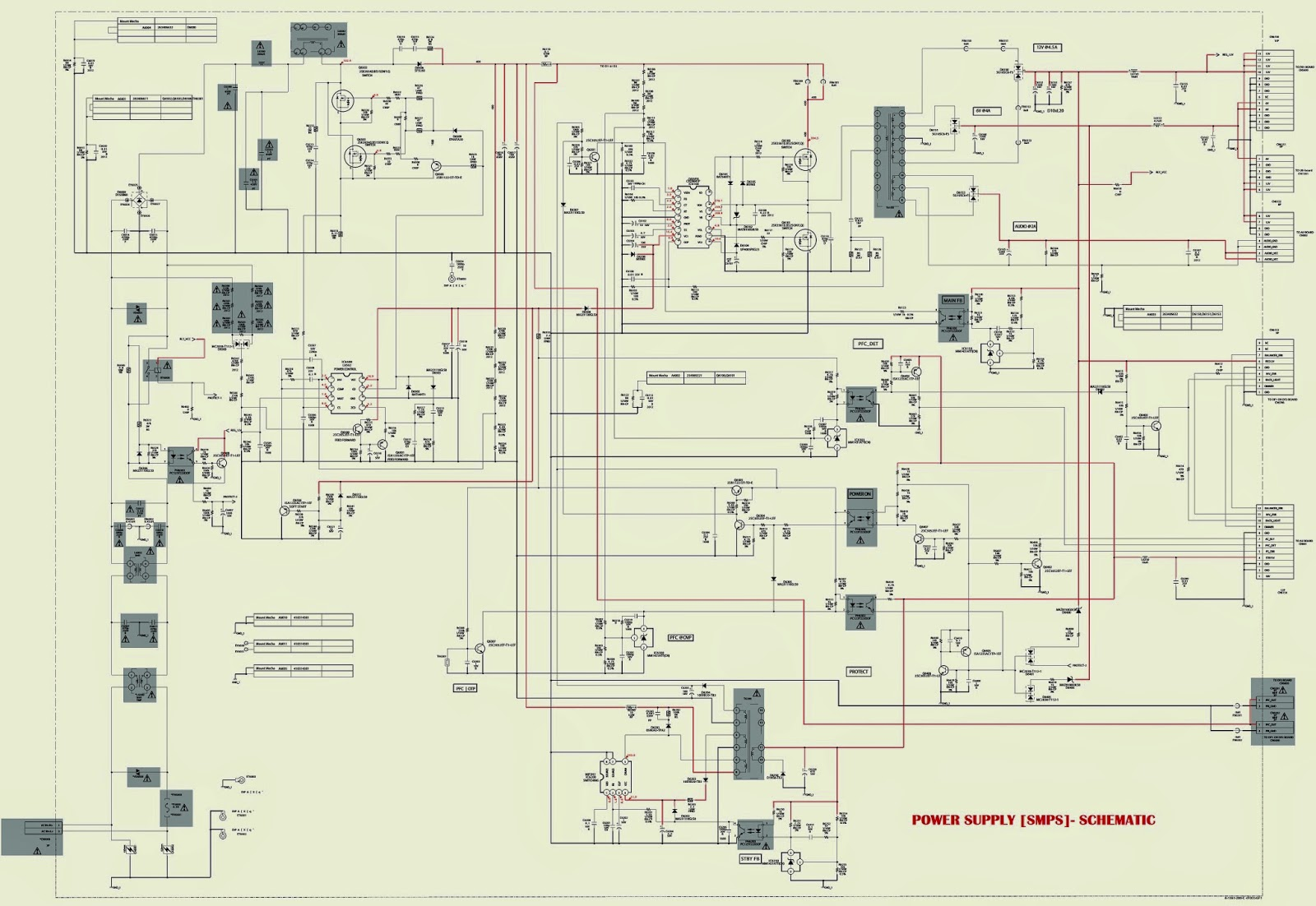 Toshiba 32dt2u1 Power Supply Or Mainboard Issue Badcaps Asus Vw223 Lcd Monitor And Inverter Schematic Tv Circuit Board Diagram Free Engine