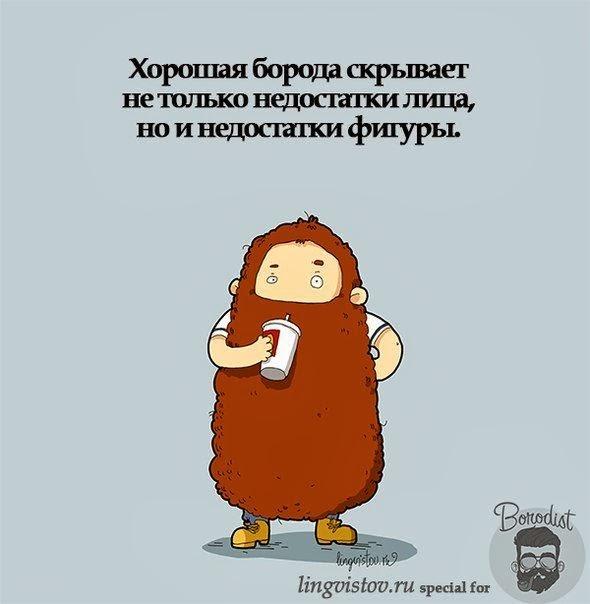 хорошая борода скрывает не только недостатки лица, но и фигуры