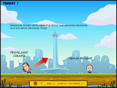 Gameplay Game Jokowi-Ahok : Selamatkan Jakarta
