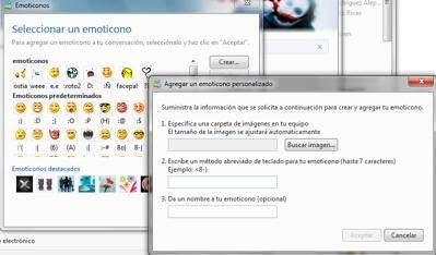Como añadir emoticones a Messenger