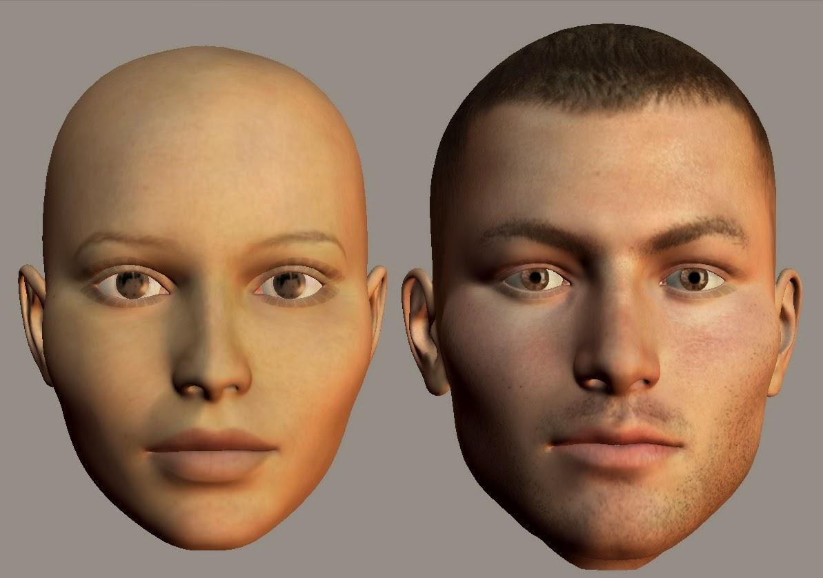 Wide cheek bones face type