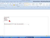Mail Merge menggunakan MS. Word dan MS. Excell sebagai databasenya