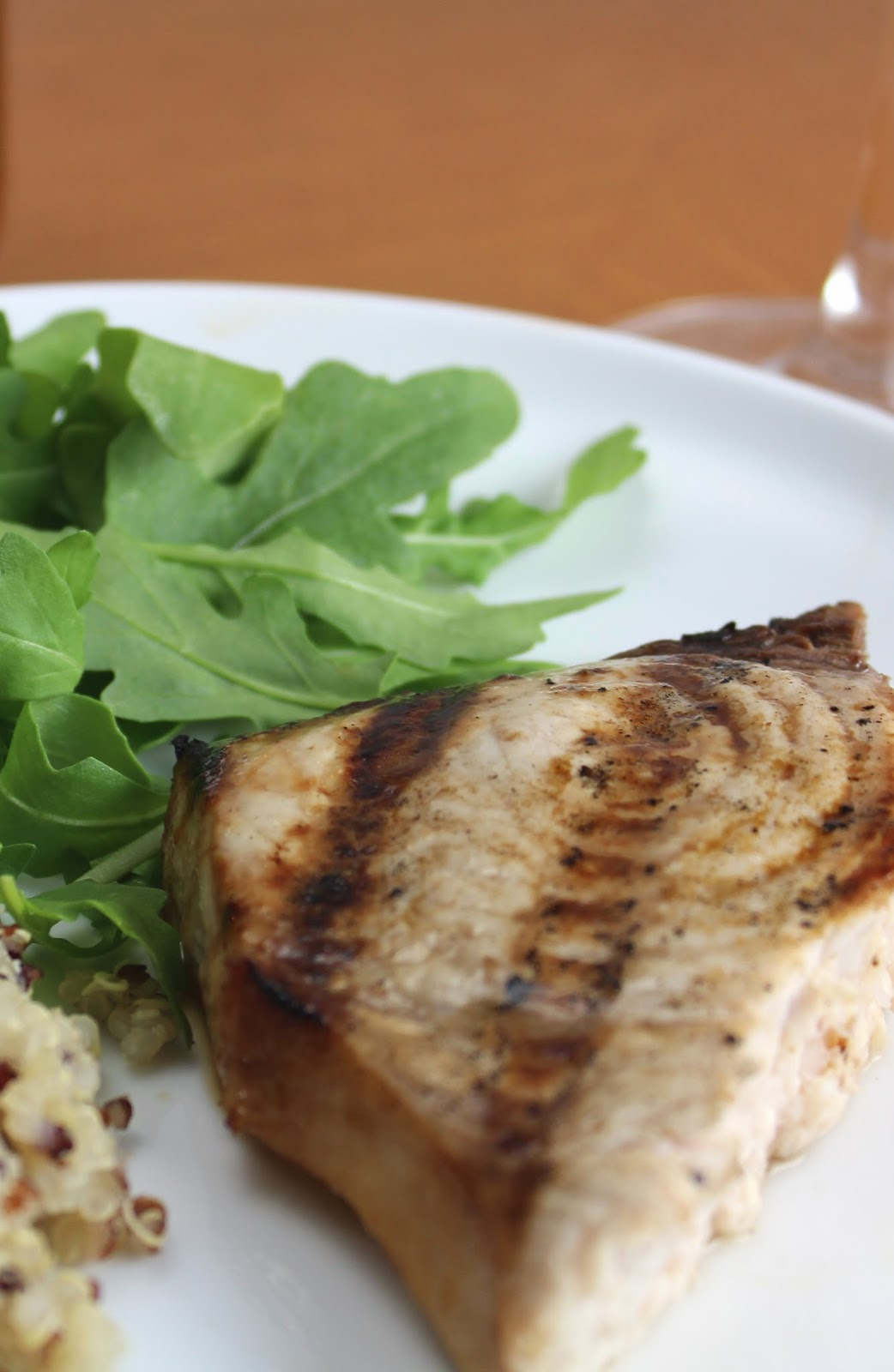 Grilled Swordfish with Garlic Soy Marinade. Healthy #recipe from Cooking Chat.