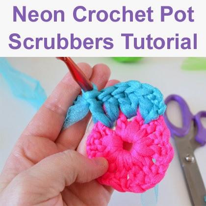 Neon Crochet Pot Scrubbers Tutorial