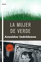 """libro, portada """"La mujer de verde"""""""