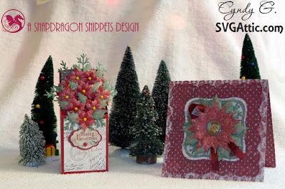 Christmas cards with poinsettias