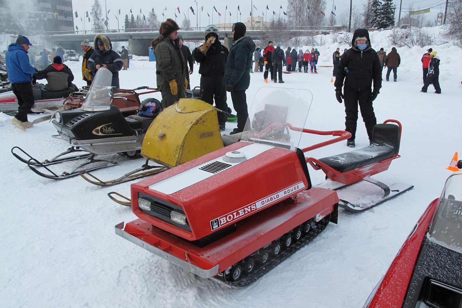 Antique snowmobiles iron dog race take center stage for Vintage sleds