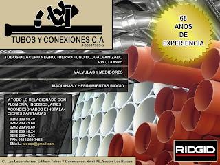 TUBOS Y CONEXIONES C.A en Paginas Amarillas tu guia Comercial