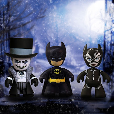 Batman Returns Mini Mez-Itz Vinyl Figure Box Set by Mezco Toyz - The Penguin, Batman & Catwoman