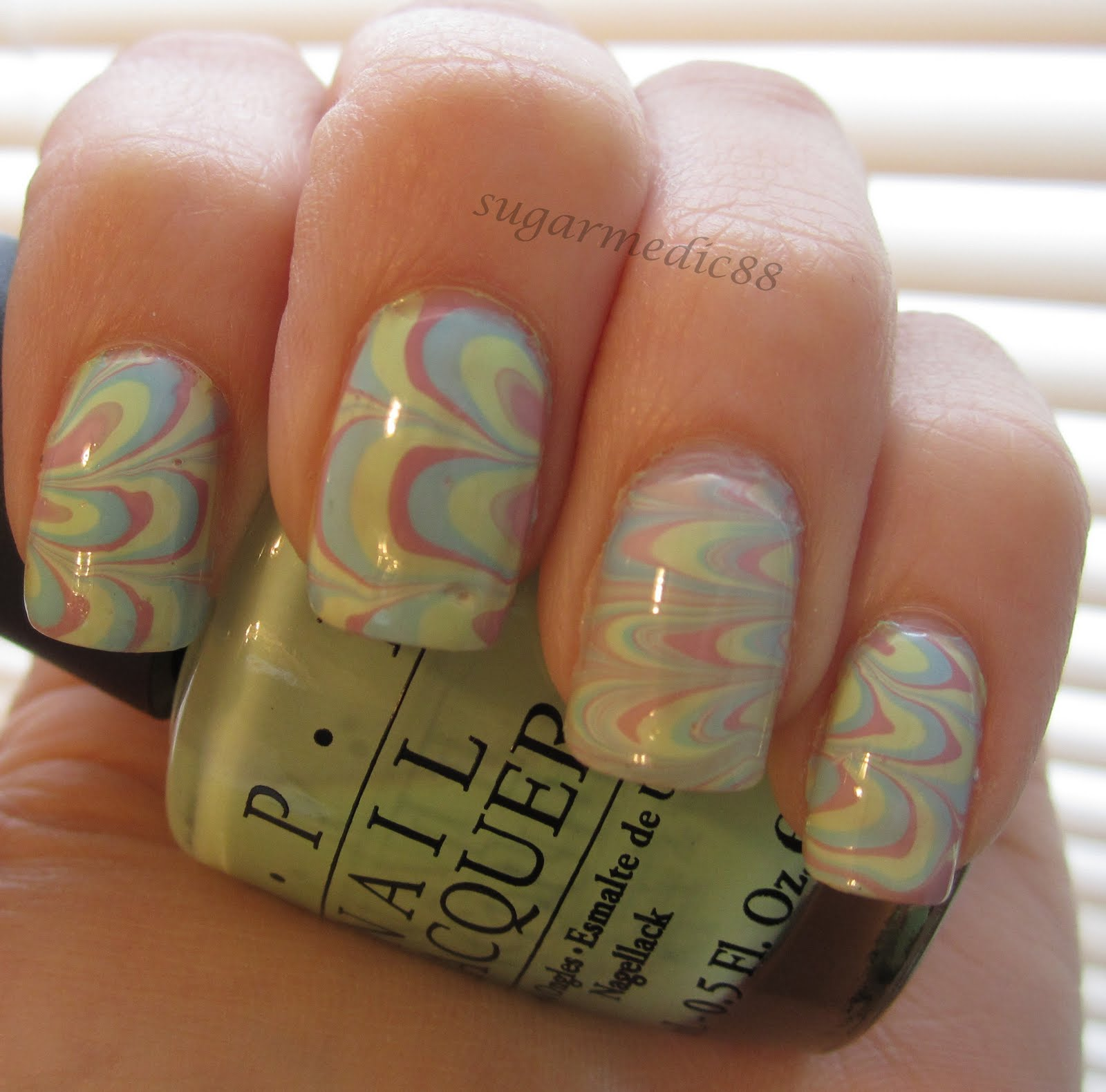 how to clean up water marble nails