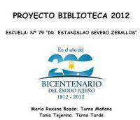 PROYECTO DE BIBLIOTECA 2012