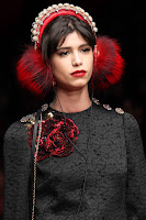 Dolce & Gabbana AW15 x Frends Embellished Red Earmuff Headphones | Photo: Marcus Tondo / Indigitalimages.com