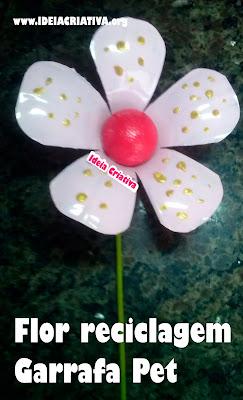 Aprenda a fazer uma flor de garrafa Pet