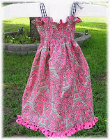 Tippy Toe's Shirred Sundress Tutorial | The TipToe Fairy #sewingtutorial #sundresstutorial #girlssewing #tutorial